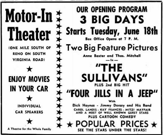 June 18th, 1946 grand opening ad as Motor In