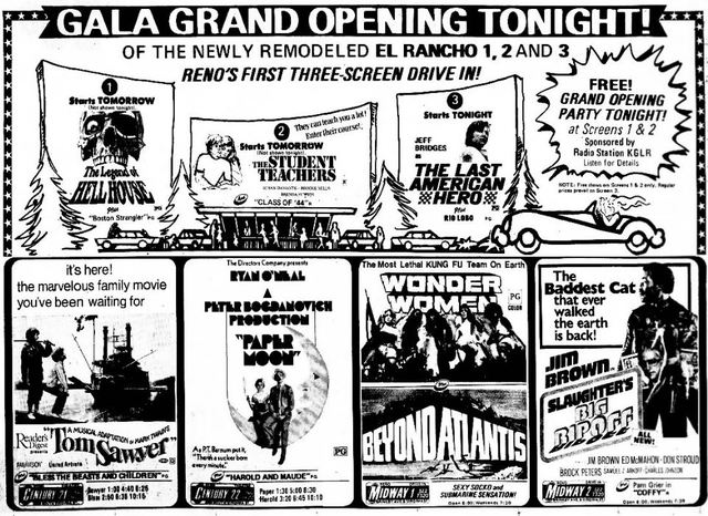 August 15th, 1973 grand opening ad in photo section