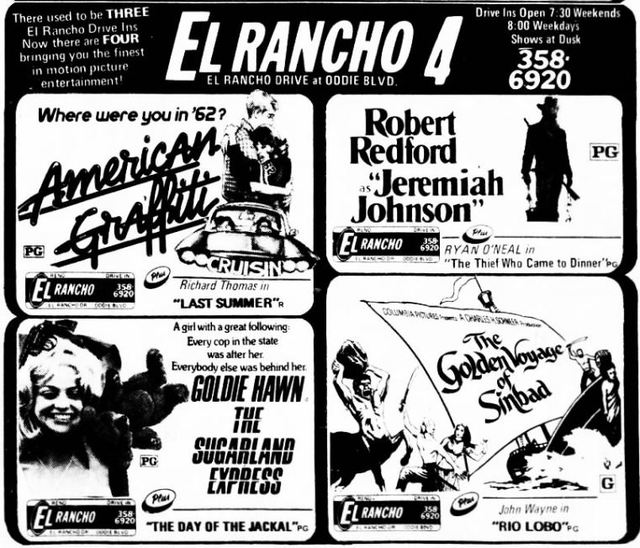 July 3rd, 1974 grand opening ad as a 4-plex cinema
