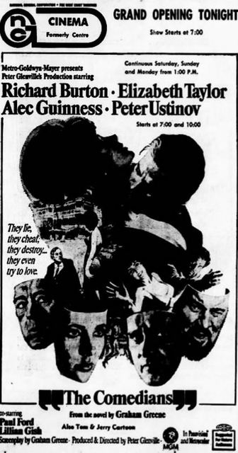 December 22nd, 1967 grand opening ad as Cinema