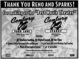 Century's response ad to the opening of the Regal Riverside 12