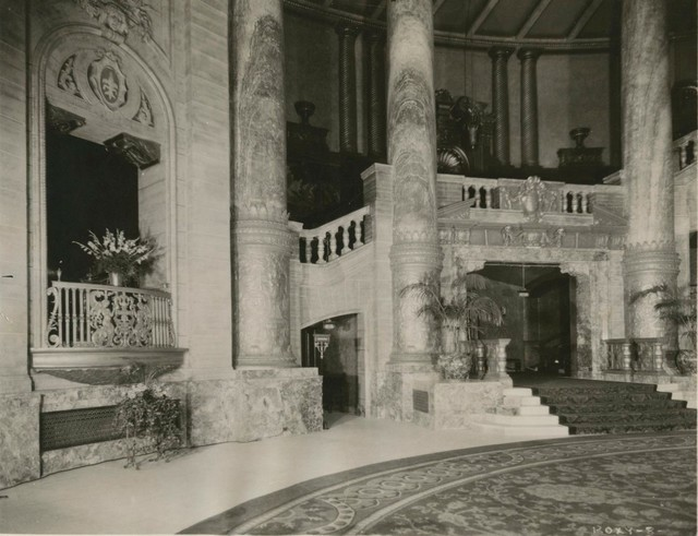 NYC ROXY Theatre Grand Foyer 1927