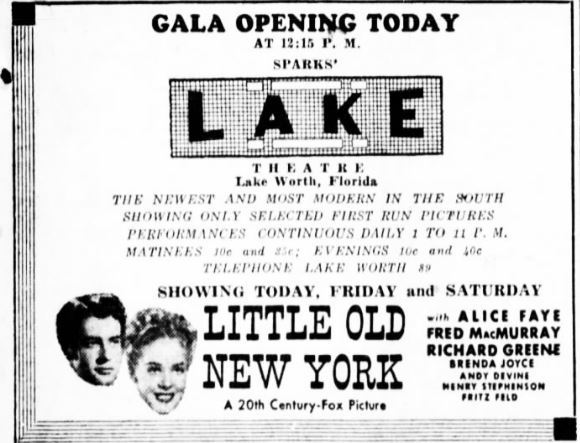February 29th, 1940 grand opening ad