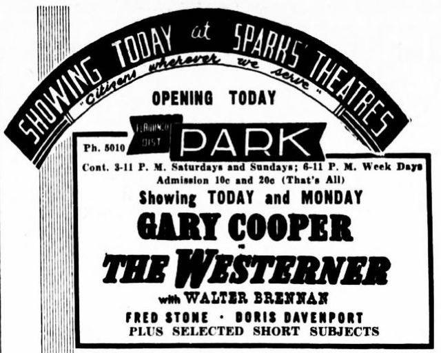 January 12th, 1942 grand opening ad