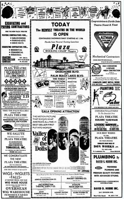 December 22nd, 1967 grand opening ad