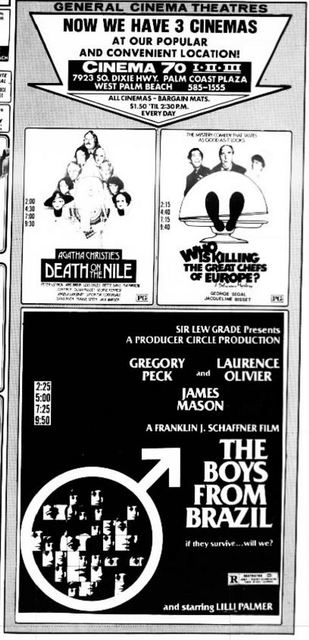 October 13th, 1977 grand opening as a 3-screen cinema