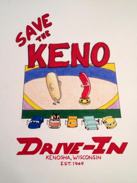 KENO DRIVE-IN Theatre; Pleasant Prairie, Wisconsin.