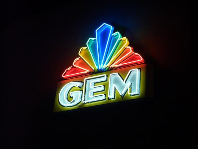 Restored Vintage Gem Theatre Sign