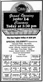 June 26th, 1992 grand opening ad of the 6-plex expansion (14 screens)