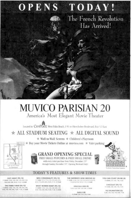 December 22nd, 2000 grand opening ad