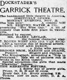 November 23rd, 1903 grand opening ad