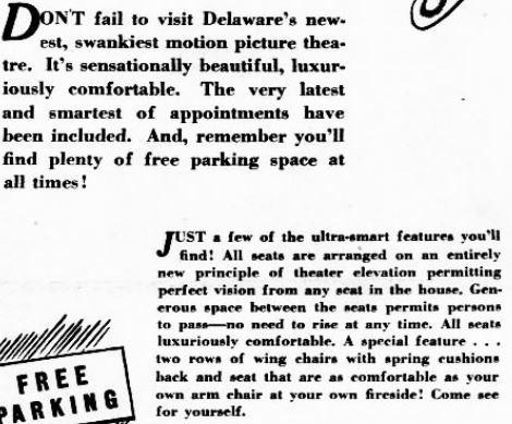 November 25, 1941 grand opening ad close up