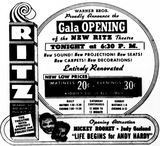October 30th, 1941 grand opening ad