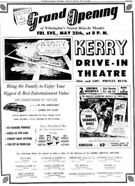 May 24th, 1951 grand opening ad