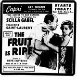 February 15th, 1963 grand opening ad as Capri