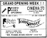 October 25th, 1973 grand opening ad