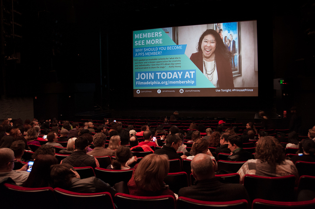 Audience inside Prince Theater main auditorium
