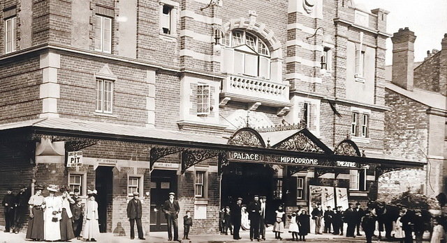 Close up of the front of the Palace Hippodrome Theatre.