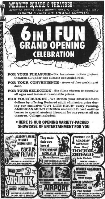 October 23rd, 1969 grand opening ad