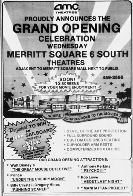 June 27th, 1986 grand opening ad