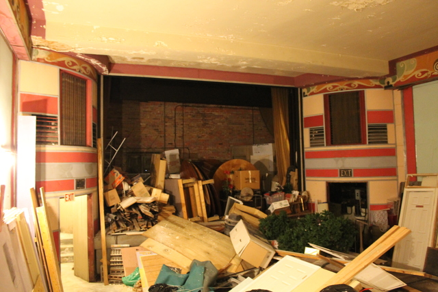 What's left of the interior
