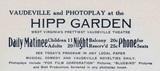 HIPP GARDEN THEATRE IN 1918