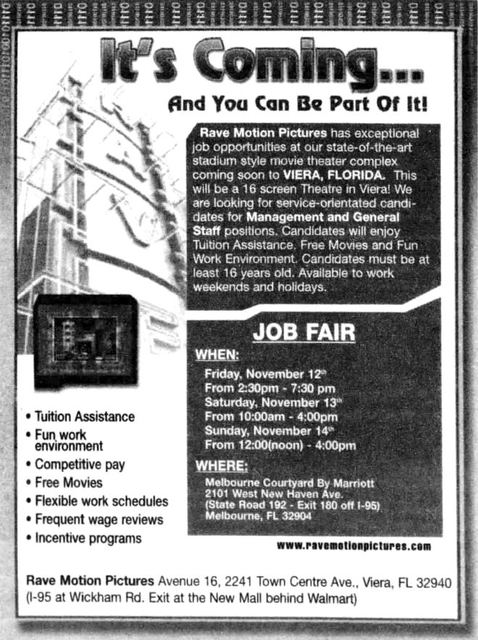 Help wanted ad from November 5th, 2016.