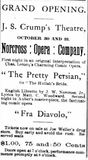 October 30th, 1889 grand opening ad