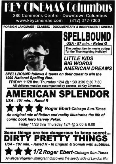 November 28th, 2003 grand opening ad as Key Cinemas