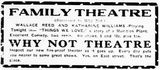 July 29th, 1919 announcement of the Why Not theatre's construction