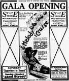 October 18th, 1933 grand opening ad