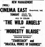 October 21st, 1966 grand opening ad as Cinema East