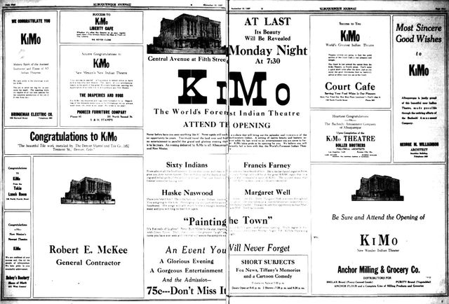 September 19th, 1927 grand opening ad