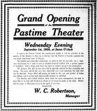 September 1st, 1930 grand opening ad