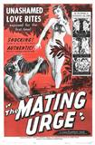 """The Mating Urge"" poster, film on the marquee in the previous photo."