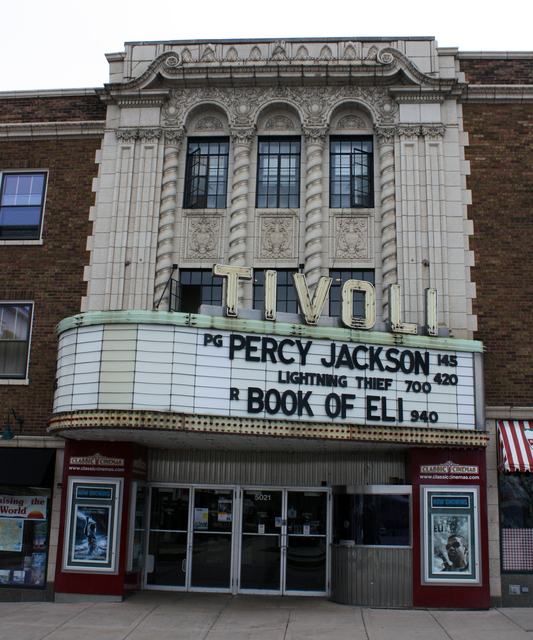 Tivoli Theatre, Downers Grove, IL - close up shot