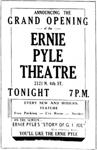 October 9th, 1946 grand opening ad