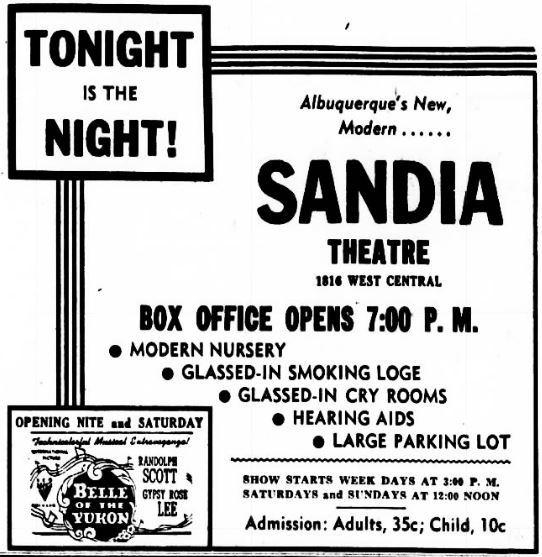 May 10th, 1946 grand opening ad