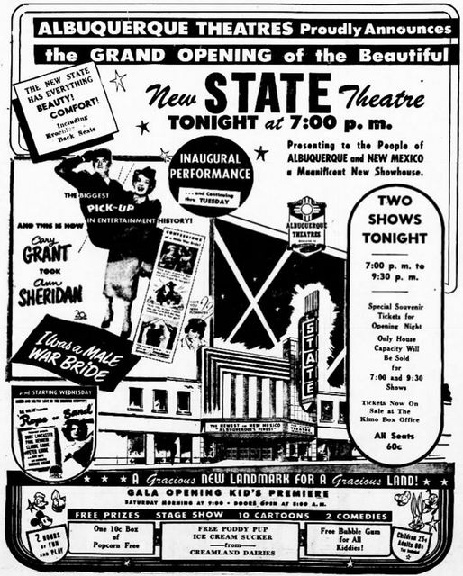 October 12th, 1949 grand opening ad