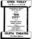 December 23rd, 1948 grand opening ad as Isleta