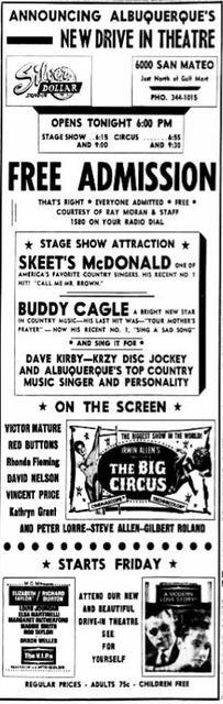 November 6th, 1963 grand opening ad