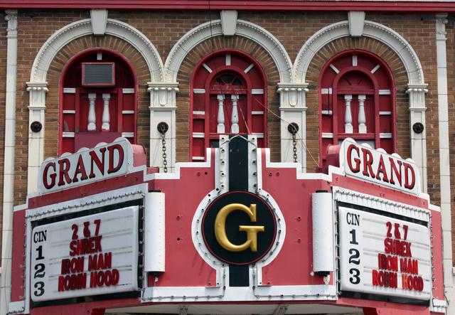 Grand Theatre, Du Quoin, IL - marquee