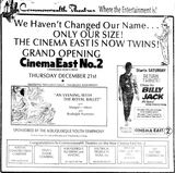 December 21st, 1972 grand opening ad as a twin