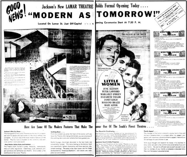 June 9th, 1949 grand opening ad
