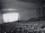 <p>Auditorium photographed in December 1967 after it had been given the 'zing' treatment, removing much of the original decoration.</p>