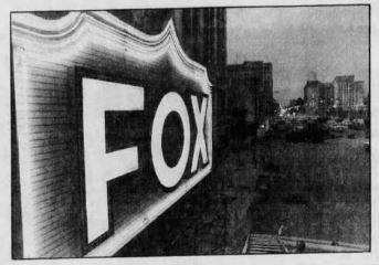 The New 120 Foot Marquee for the Fox Theatre Lights Up for the First Time on Friday