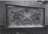 <p>Original safety curtain, photographed in November 1937 at the theatres' opening.  It still exists today, and is used on special occasions and whenever the stage is used.</p>
