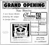 June 29, 1962 grand opening ad