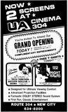 April 10th, 1981 grand opening ad as a twin cinema