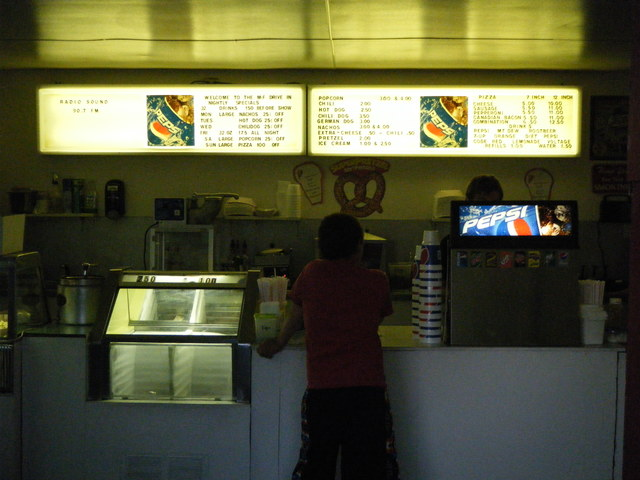 M-F Drive-In's Concession Stand (inside with menu) - (07-02-16).